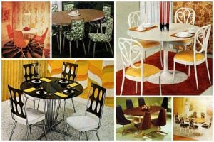 Vintage dinettes from the 60s and 70s