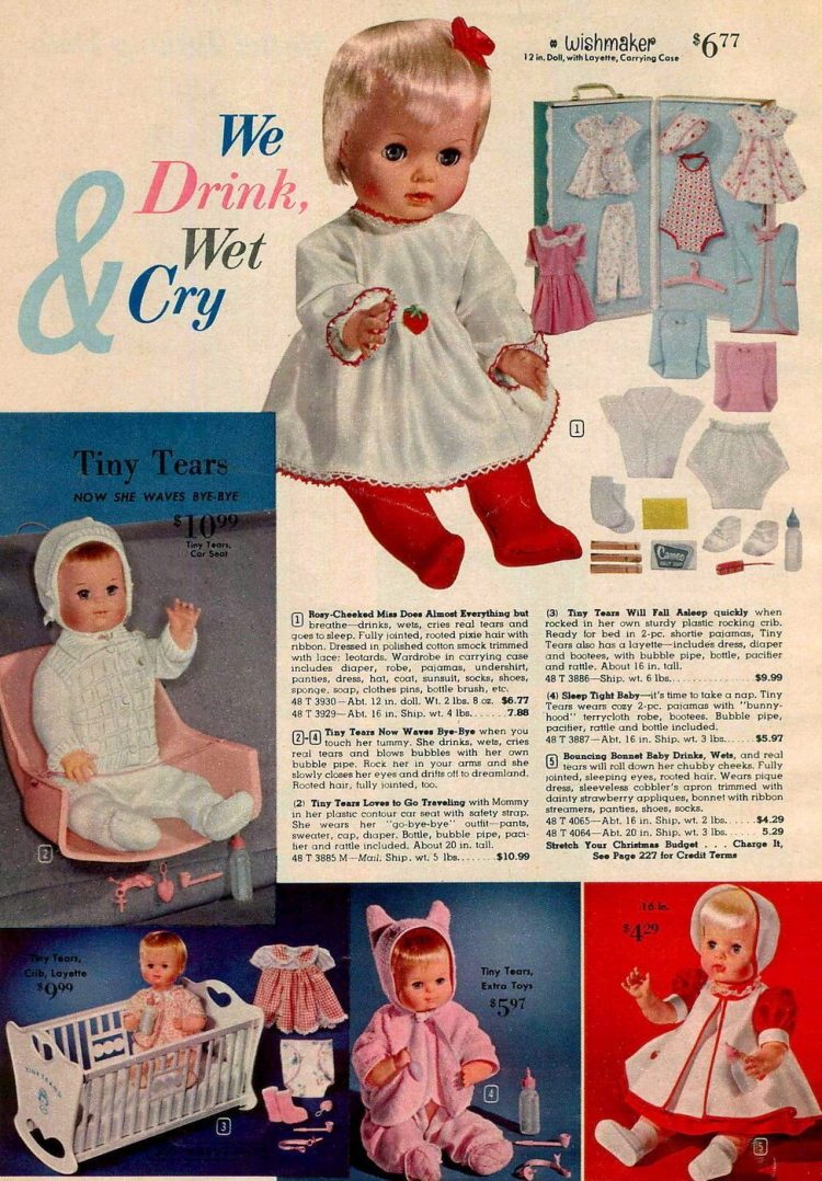 Vintage dolls and toys from 1963