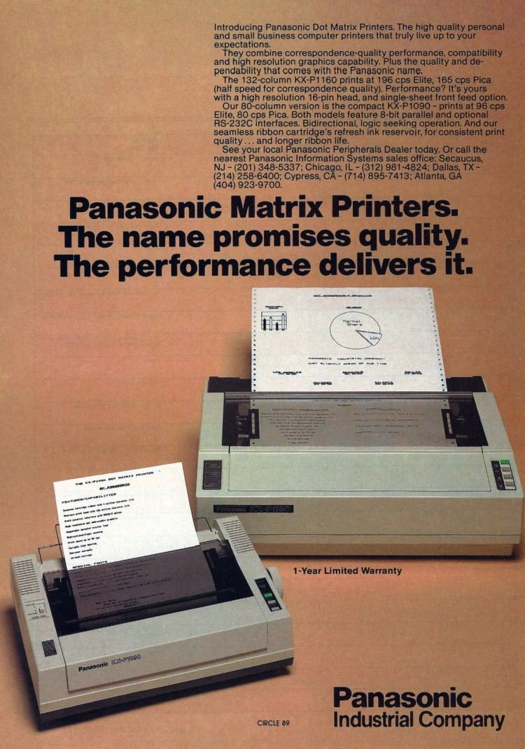 Vintage dot matrix printers and paper from 1984 (2)