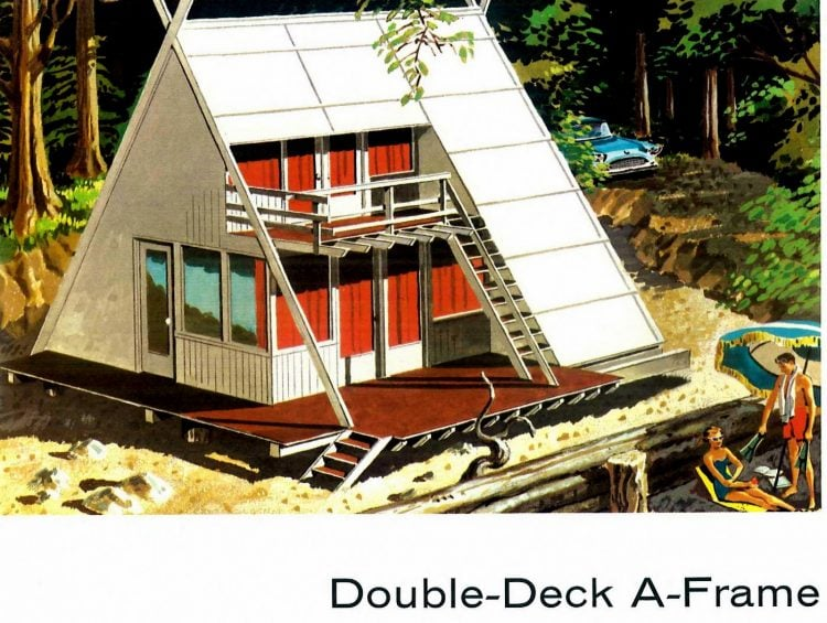 Vintage double-deck A-Frame vacation home - two stories from the 60s