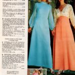 Retro '70s bridesmaid dresses - sparkling touches add glamour to these full-length gowns