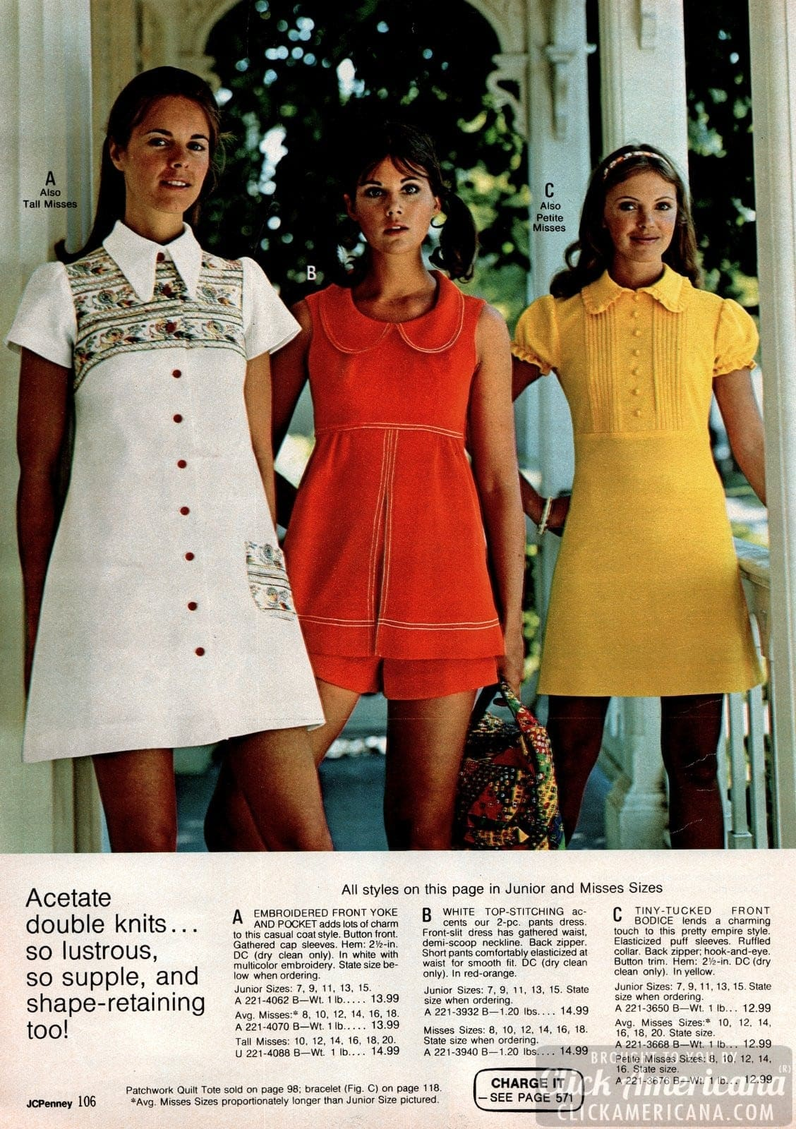 Hip vintage '70s dresses & skirts from the spring & summer of 1973