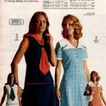 Retro polyester knit dresses - sleepless with scarf and short-sleeve dress with white collar