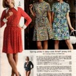 Spring prints in jersey knit - polka dot bodysuit with skirt, A-line dress and coatdress
