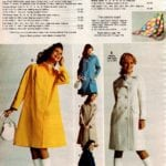 Classic raincoats, colorful abstract scarf and lightweight vintage coats for women