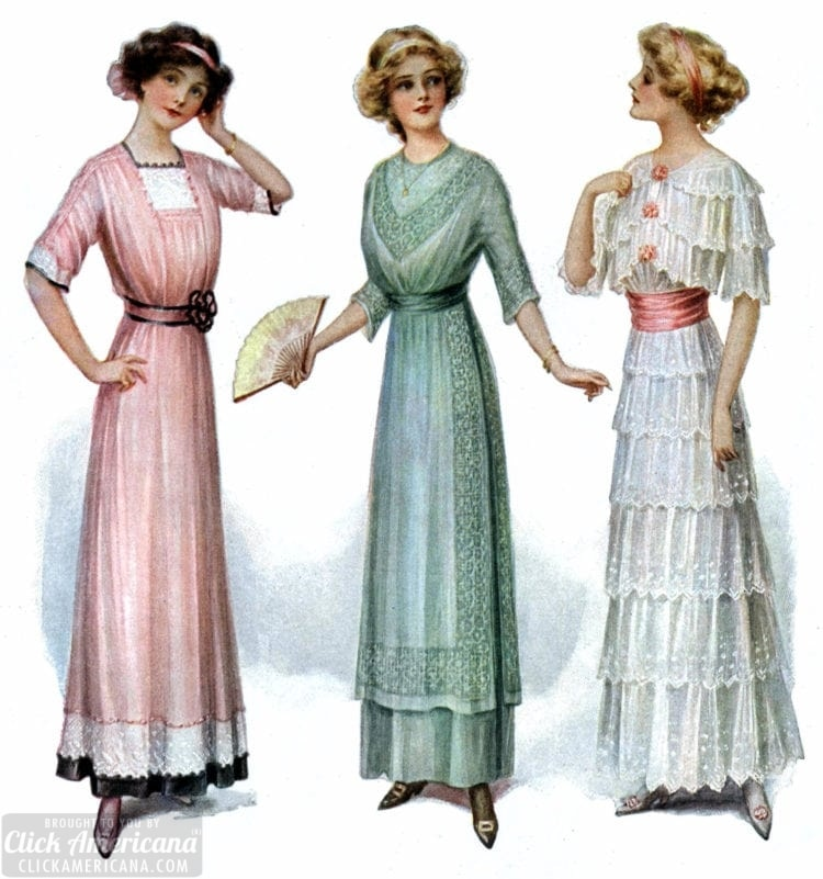Vintage dresses from the 1910s - party clothing