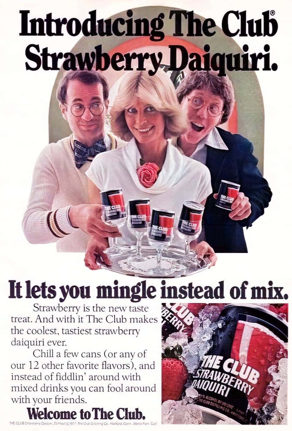 Vintage drink mix - The Club - 1970s
