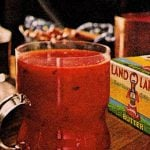 Vintage drink recipe for hot buttered tomato juice
