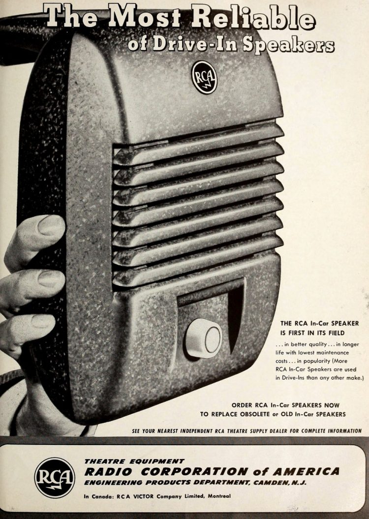 Vintage drive-in movie speakers from 1951 (1)