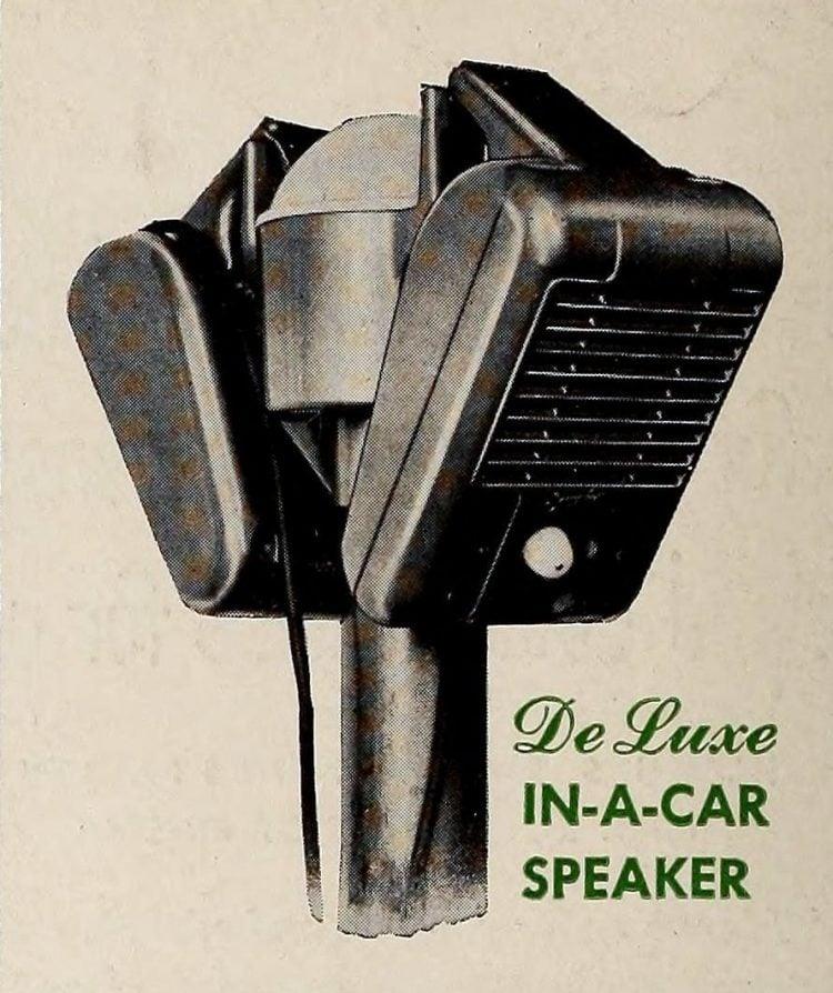 Vintage drive-in movie speakers from 1951 (2)
