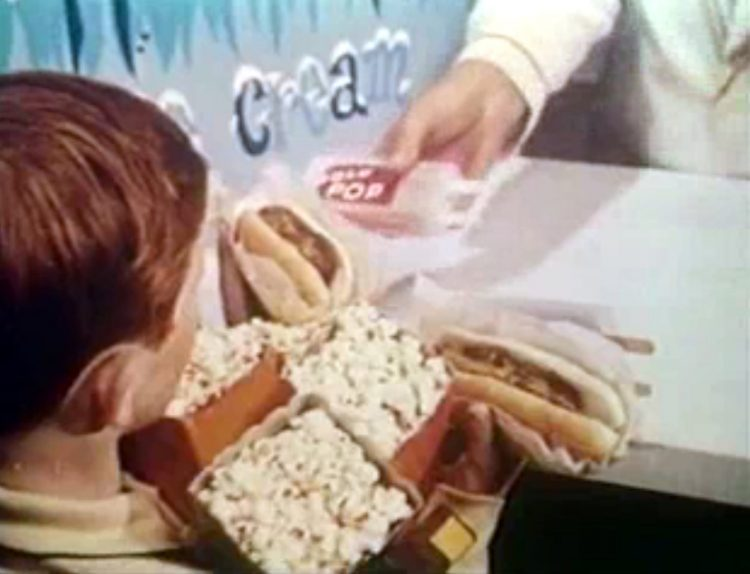Vintage drive-in movie theater intermission reel clip (1)