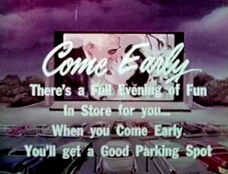 Vintage drive-in movie theater intermission reel clip (2)