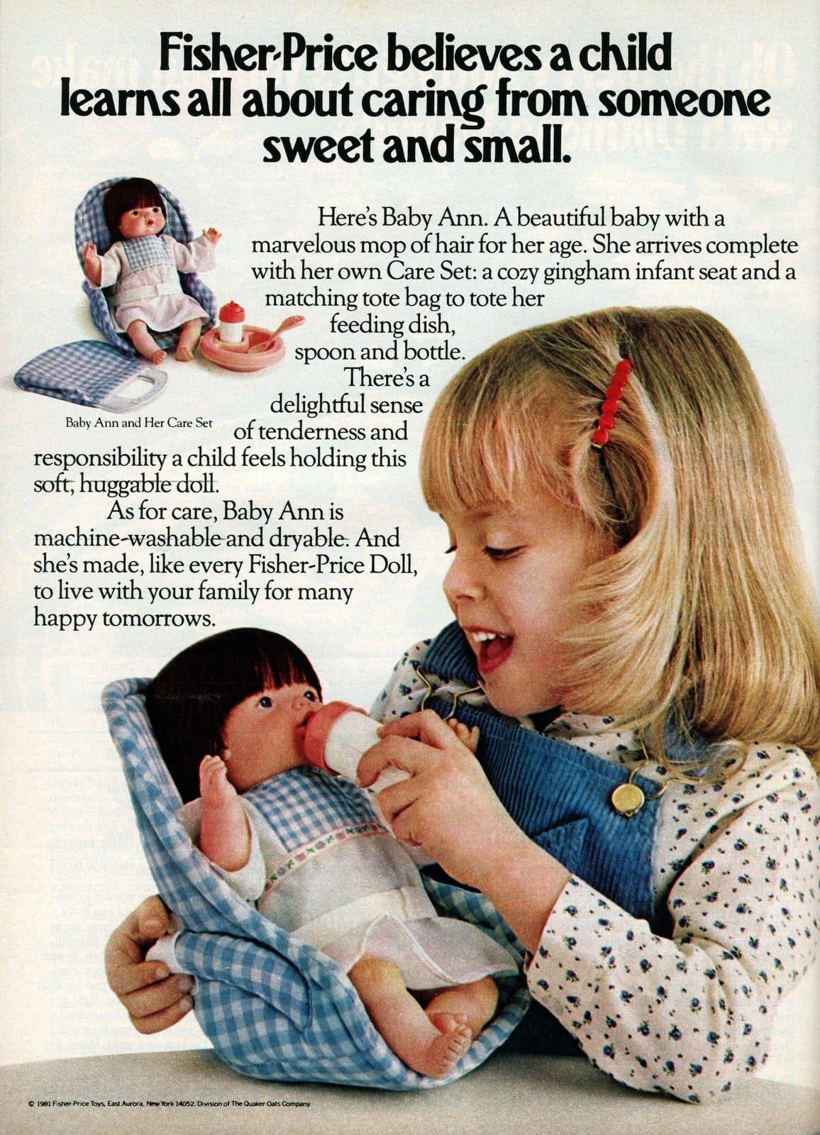 Vintage eighties Fisher-Price Baby Ann doll (1981)