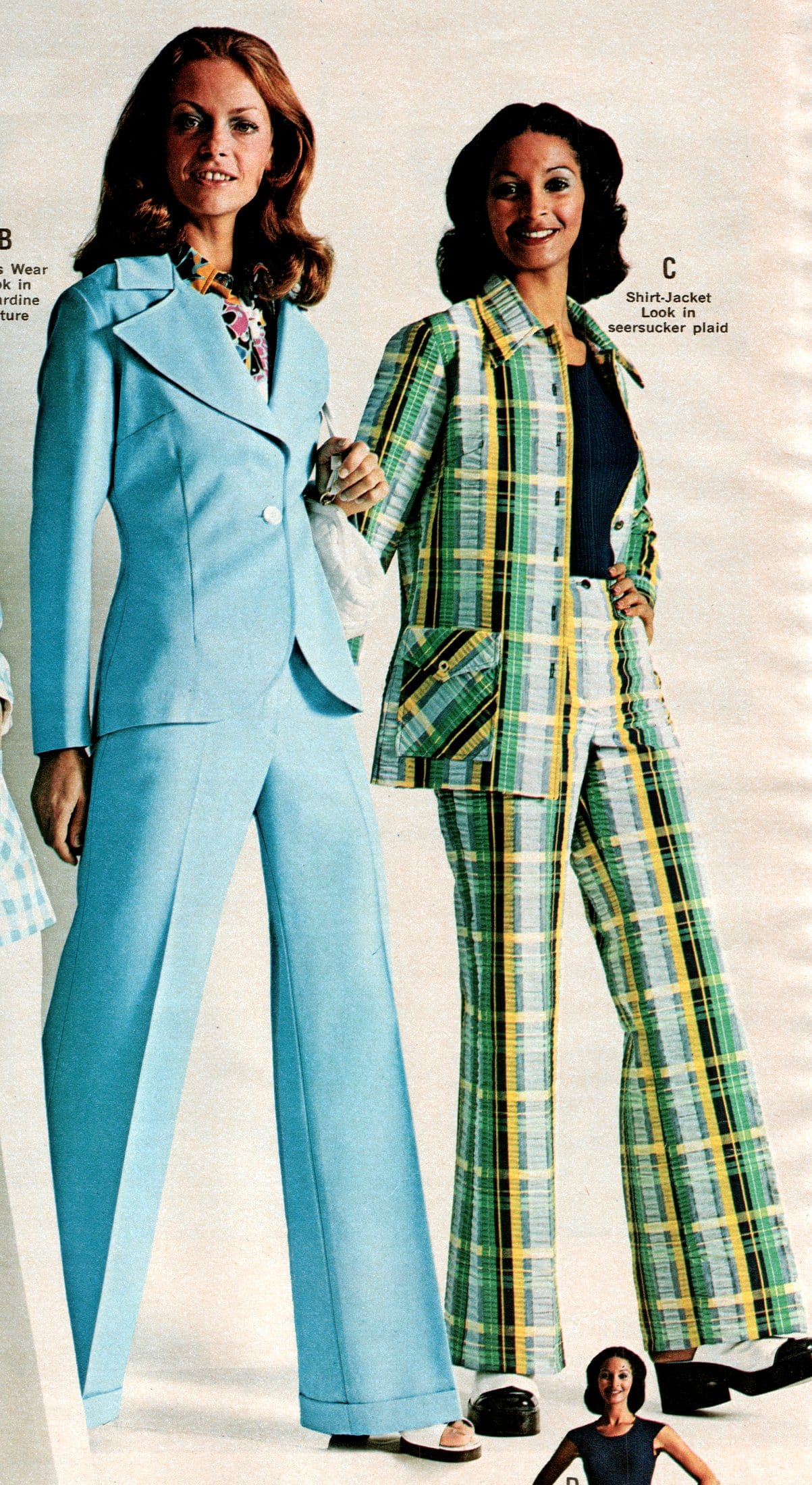 Vintage fashion Casual suits for women (1973)