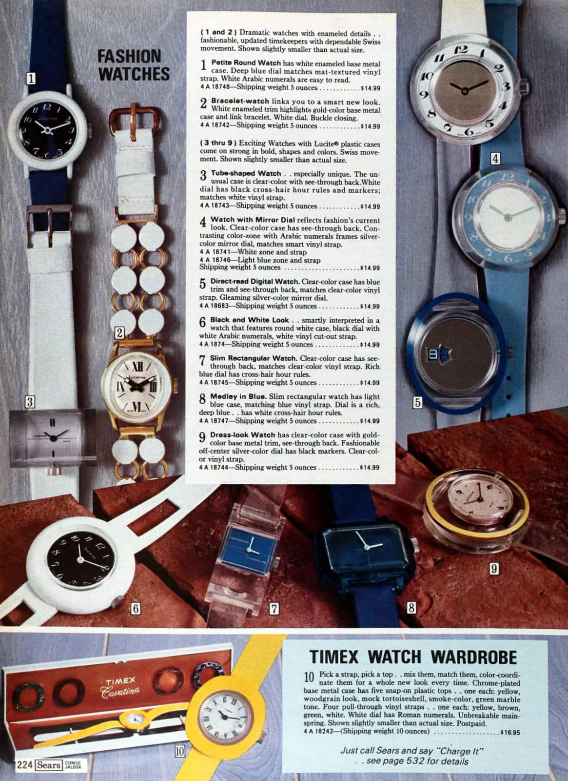Vintage fashion watches (1974)