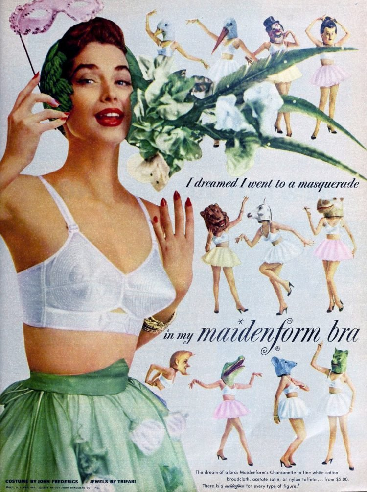 Vintage fashionable bras from the 1950s - Maidenform