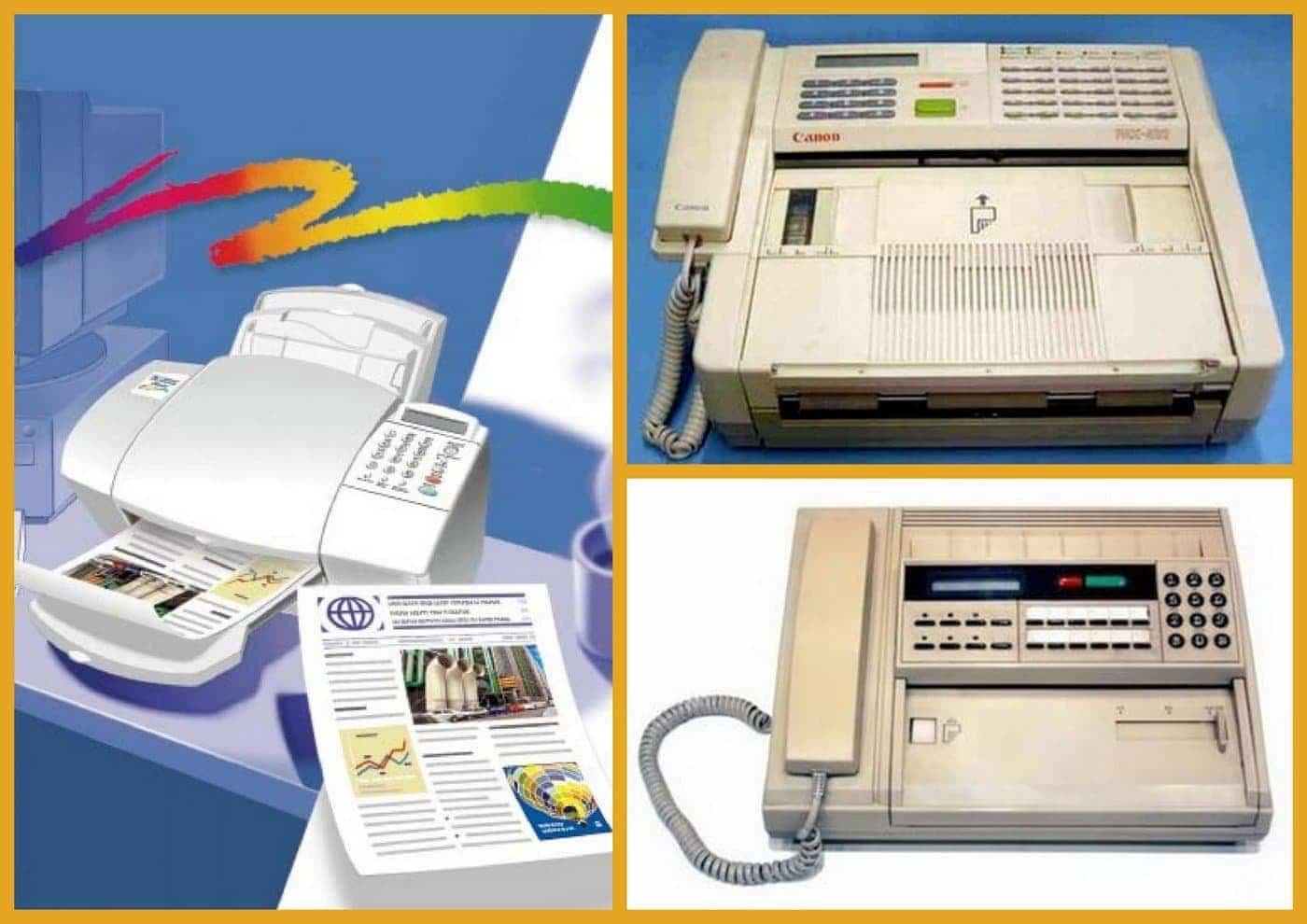 Vintage fax machines