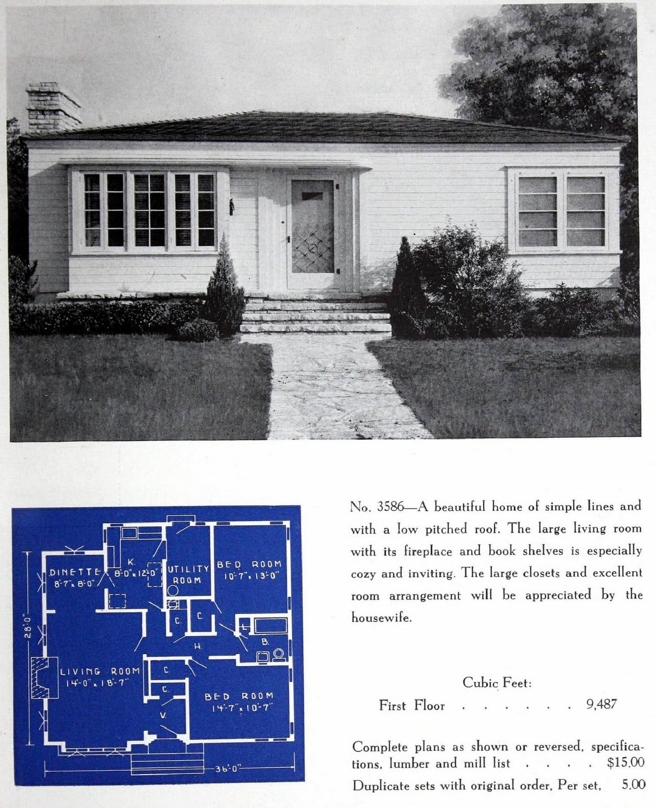 Vintage fifties Garlinghouse Sunshine Homes - Small houses from 1950 (2)