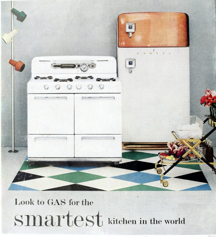 Vintage fifties gas kitchen stove range
