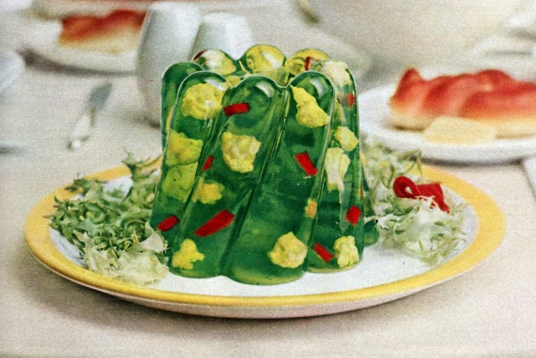 Vintage fifties sequin salad jello recipe