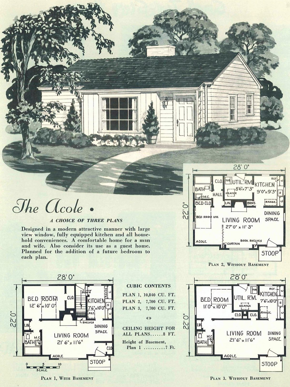 Vintage fifties small homes from 1950 (1)