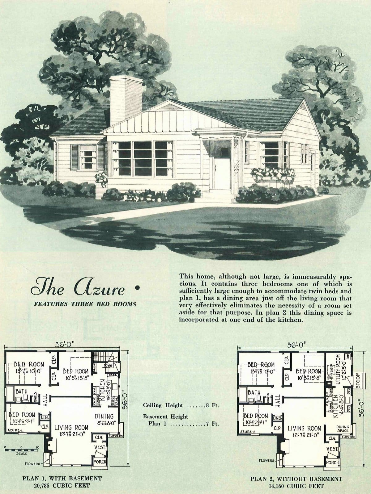 Vintage fifties small home plans from 1950 (3)