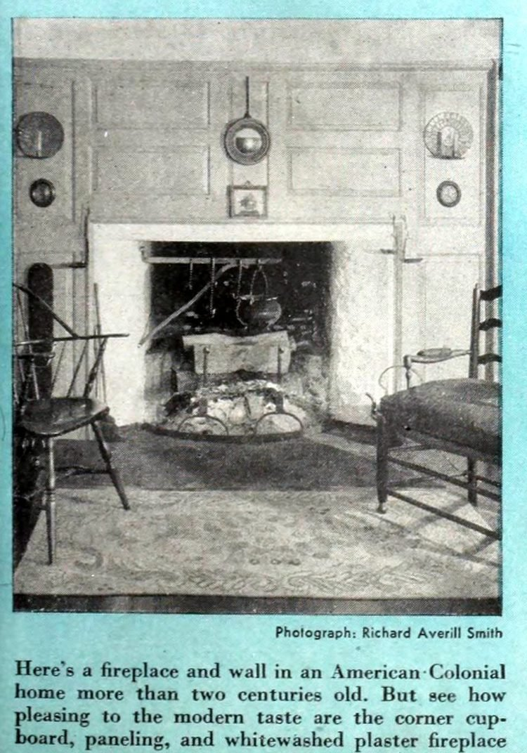 Vintage fireplaces from the 1940s (1)
