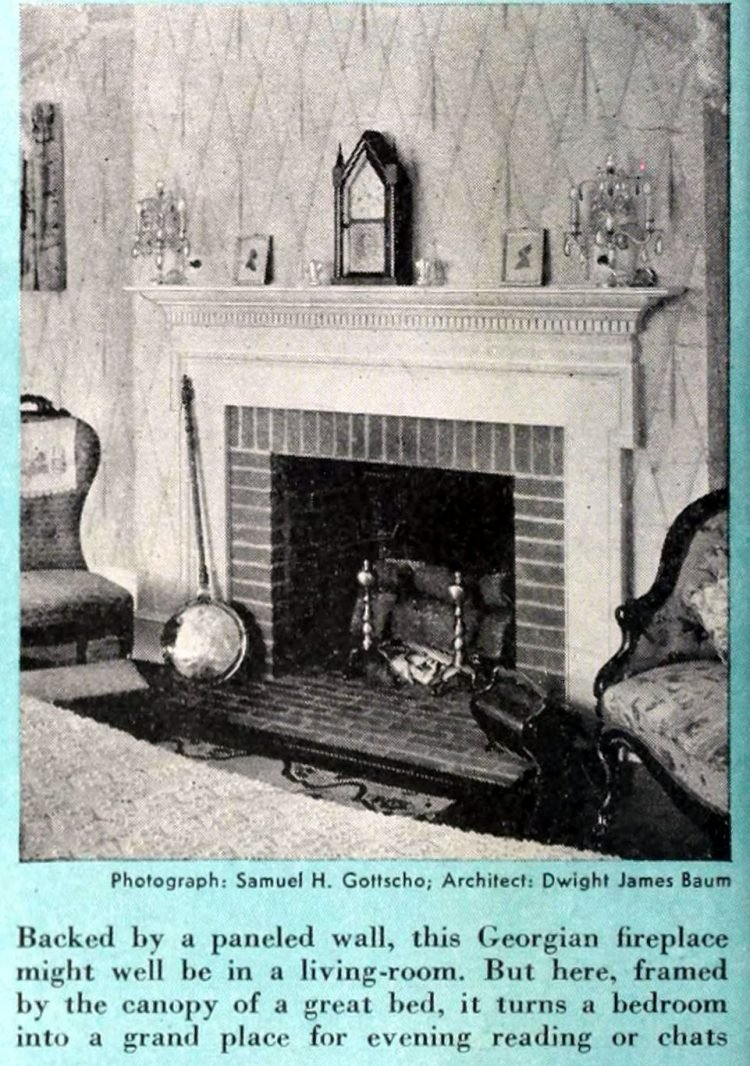 Vintage fireplaces from the 1940s (2)