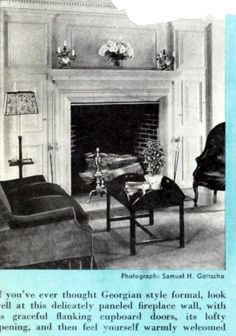 Vintage fireplaces from the 1940s (3)