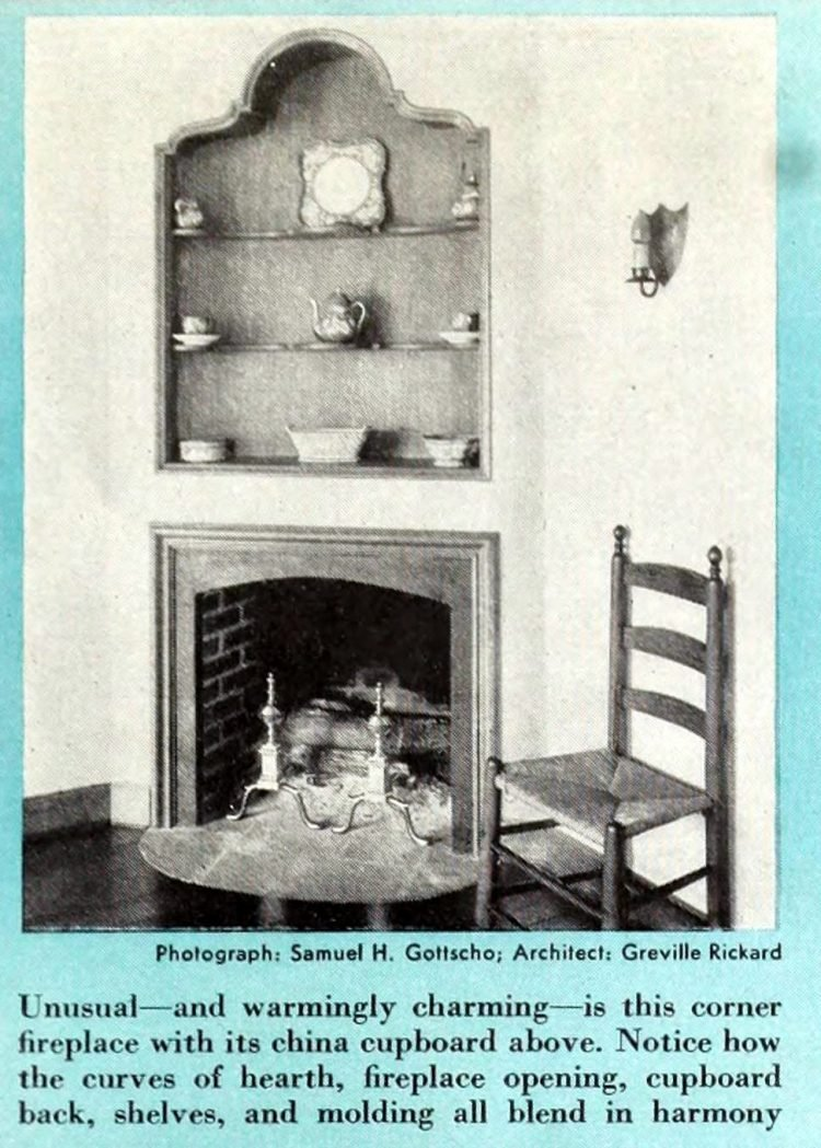 Vintage fireplaces from the 1940s (4)