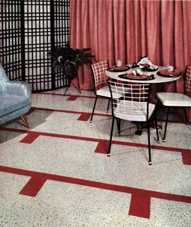 Vintage floor tile from 1957