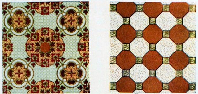 Vintage flooring - Linoleum c1910