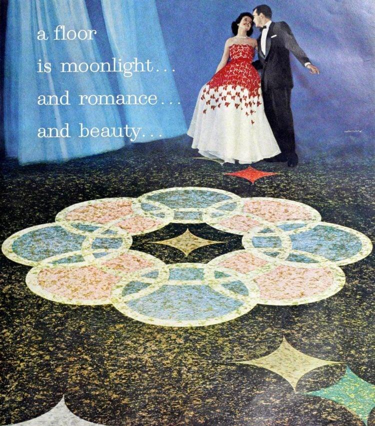 Vintage flooring from 1959 - Moonlight romance beauty