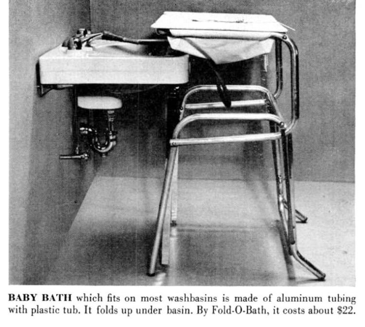 Vintage fold-away baby bath from 1955