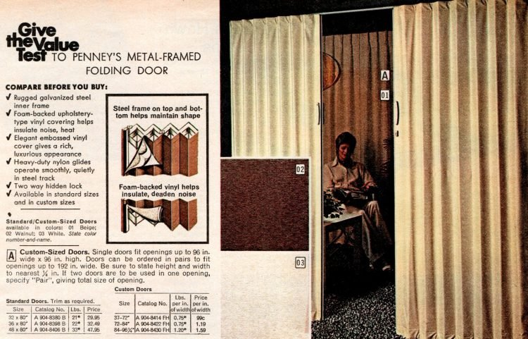 Vintage folding doors from the 70s (1)
