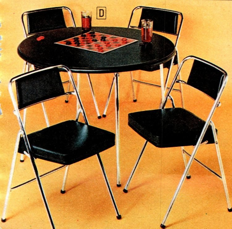Vintage folding furniture - card tables and chairs from the 70s - 1973 (1)