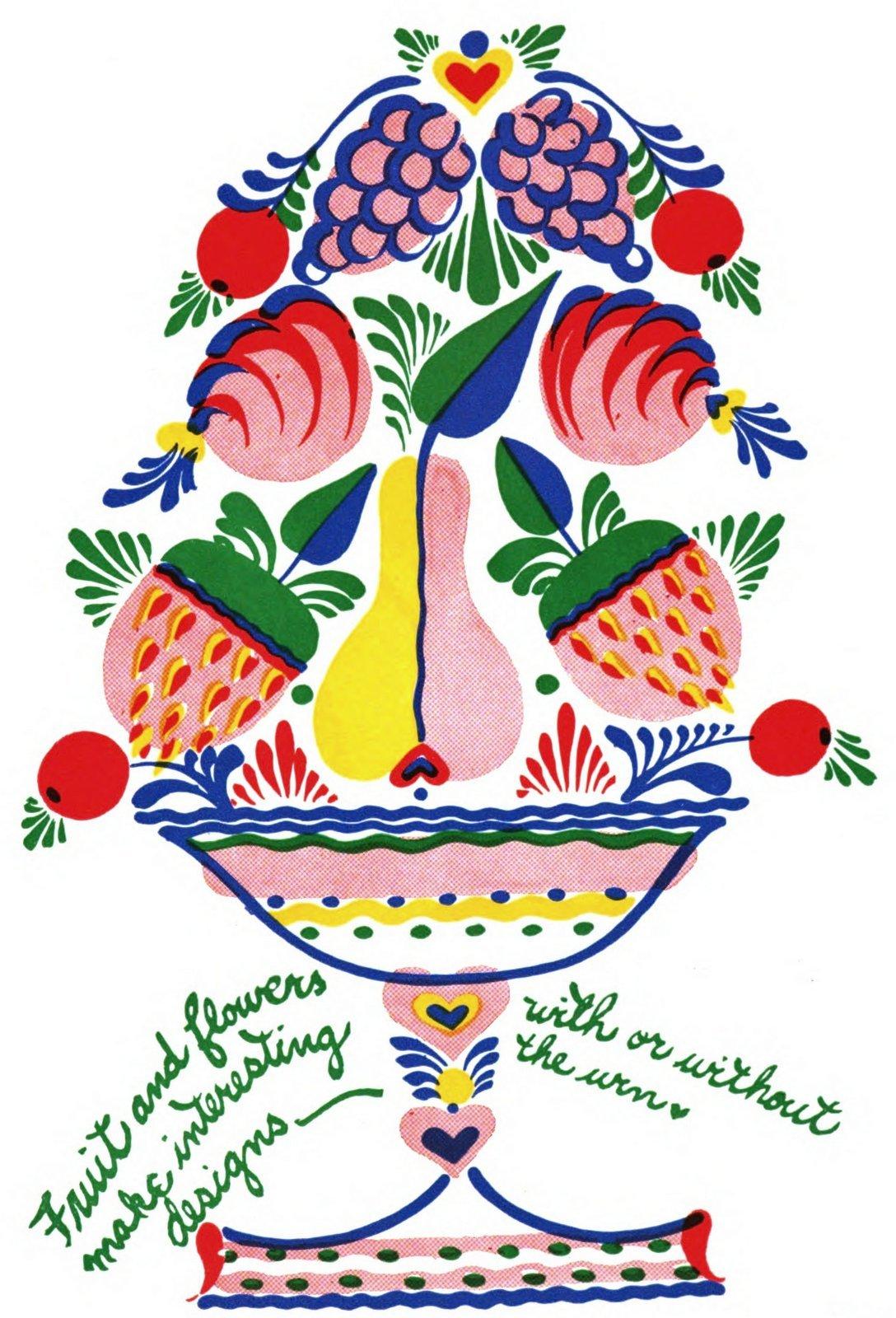 Vintage folk art paint designs by Peter Hunt (1)