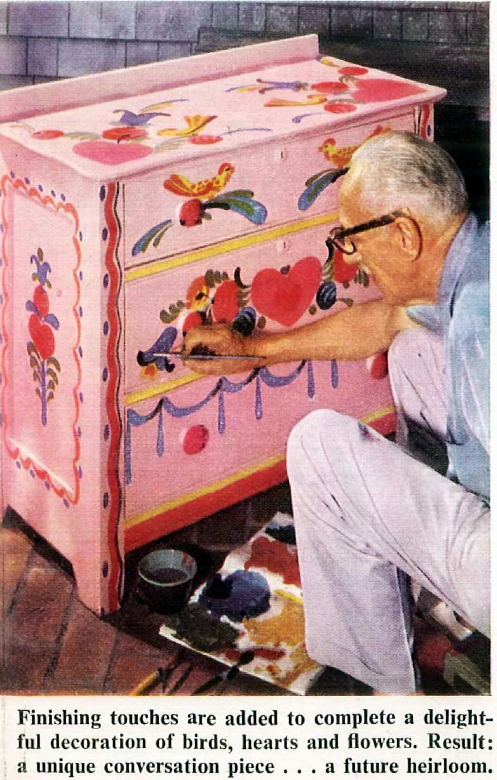 Vintage folk-art paint for furniture how-to and tips (1)