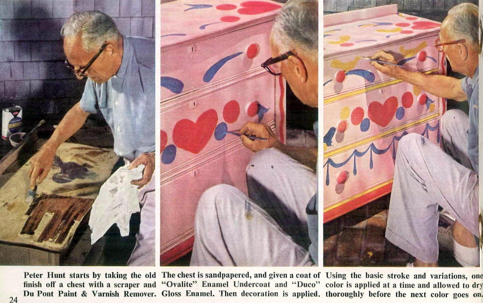 Vintage folk-art paint for furniture how-to and tips (2)