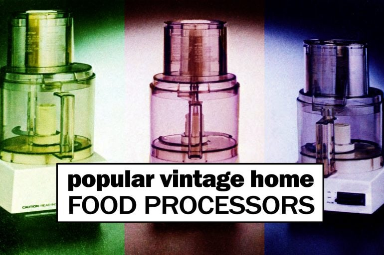 Vintage food processors at Click Americana