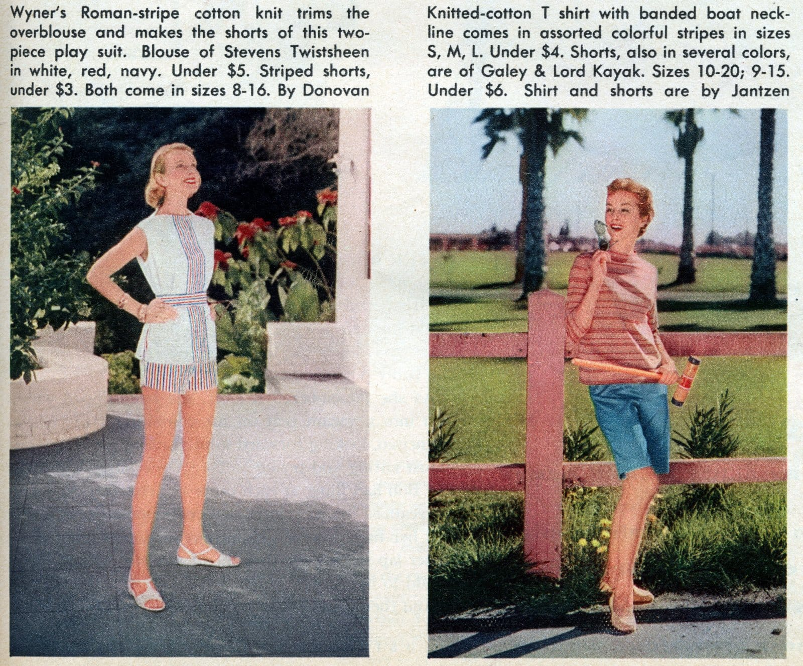 Vintage fun-in-the-sun fashions Summer playwear from the 1950s