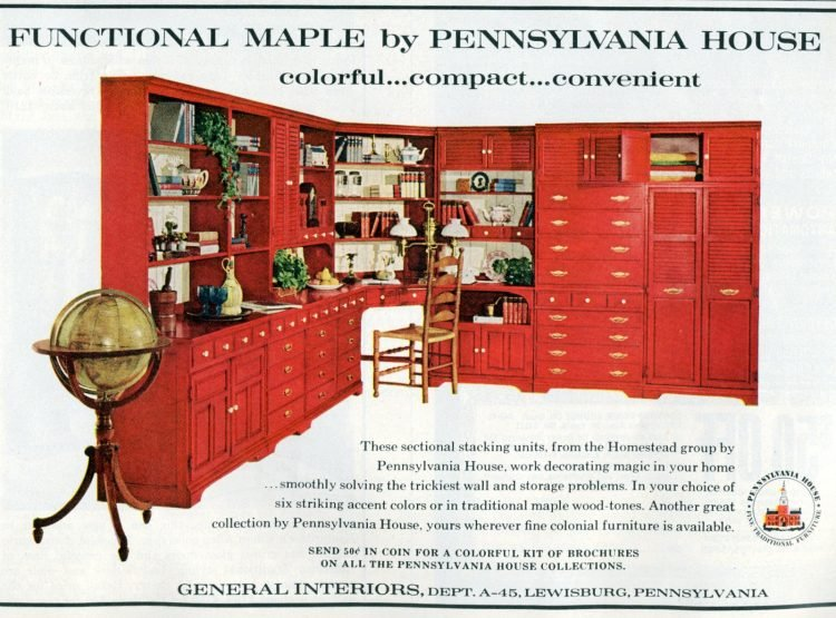 Vintage furniture - Bookshelves and wall cabinetry from 1965