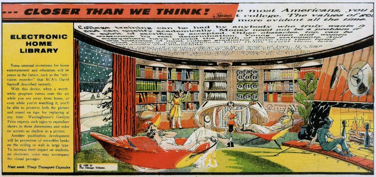 Vintage futuristic homes - Electronic home library Feb 1 1959 (1)