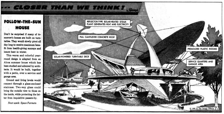 Vintage futuristic homes - Follow the sun architecture May 3 1959