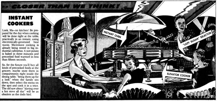 Vintage futuristic homes - Future kitchen instant cookers Jun 18 1961