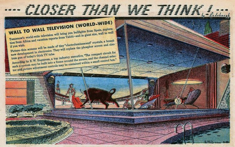 Vintage futuristic homes - Wall to wall television Mar 23 1958