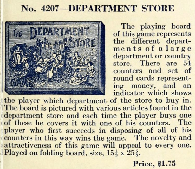 Vintage game - Department Store