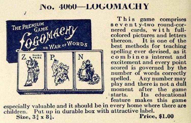 Vintage game - Logomachy