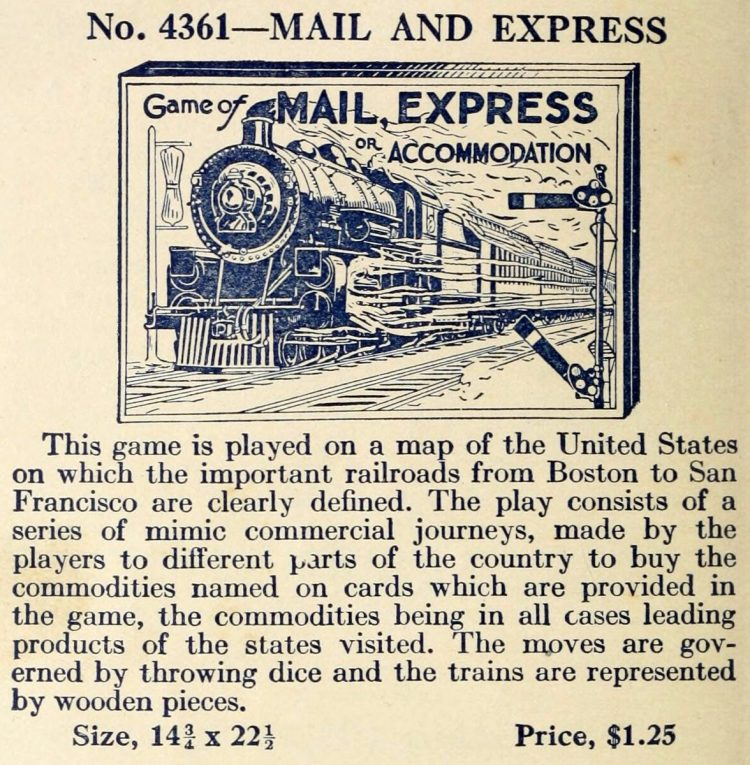 Vintage game - Mail Express - Bradley