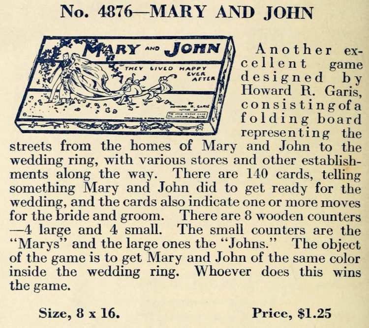 Vintage game - Mary and John